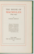Books:Books about Books, Charles Morgan. The House of Macmillan 1843-1943. Macmillan, 1944. First edition, first printing. Owner's name. ...
