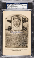 Autographs:Post Cards, 1946-52 Lefty Grove Signed Albertype Hall of Fame Plaque PostcardPSA/DNA NM-MT 8. ...