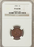 Proof Indian Cents, 1903 1C PR66 Red and Brown NGC....