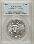 Modern Bullion Coins, 2008 $100 Plat. One Oz. MS69 PCGS. PCGS Population (252/57). NGCCensus: (0/0). (#393111)...