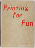 Books:Books about Books, Koshi Ota. Printing for Fun. McDowell, Obolensky, 1960. First American edition, first printing. Ex-library with ...