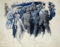 Paintings, EDMUND FRANKLIN WARD (American, 1892-1991). Mayhem at Rackics. Oil on canvas. 29 x 37.5 in.. Signed lower left. From...