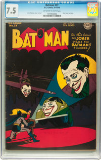 Batman #37 (DC, 1946) CGC VF- 7.5 Off-white to white pages