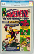 Silver Age (1956-1969):Superhero, Daredevil #1 Twin Cities pedigree (Marvel, 1964) CGC NM+ 9.6Off-white to white pages....