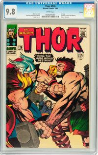 Thor #126 Boston pedigree (Marvel, 1966) CGC NM/MT 9.8 White pages