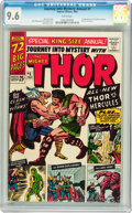 Silver Age (1956-1969):Superhero, Journey Into Mystery Annual #1 (Marvel, 1965) CGC NM+ 9.6 Whitepages....