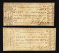Obsoletes By State:Louisiana, Shreveport, LA- State of Louisiana 25¢ Mar. 1, 1864 Two Examples. ... (Total: 2 notes)