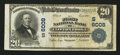National Bank Notes:Virginia, Clifton Forge, VA - $20 1902 Plain Back Fr. 660 The First NB Ch. #(S)6008. ...