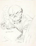 Original Comic Art:Sketches, Jack Kirby Red Skull and an Early Orion Pencil Sketch Group(On a Double-Sided Page) Original Art (undated)....