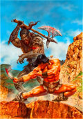 Original Comic Art:Covers, Joan Pelaez Conan the Barbarian Cover Painting Original Art(1990)....