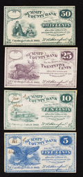 Obsoletes By State:Ohio, Cuyahoga Falls, OH- Summit County Bank 5¢; 10¢; 25¢; 50¢ 1862. ...(Total: 4 notes)