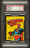Non-Sport Cards:Unopened Packs/Display Boxes, 1966 Topps Superman Unopened Wax Pack PSA Authentic....