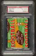 Football Cards:Singles (Pre-1950), 1954 Bowman Football 1-Cent Unopened Wax Pack PSA Authentic. ...