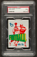 Football Cards:Singles (1970-Now), 1972 Topps Football Unopened Wax Pack PSA Mint 9....