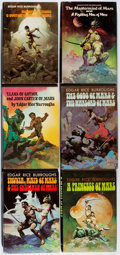 Books:Science Fiction & Fantasy, Edgar Rice Burroughs. Group of Six Book Club Editions. Jacket art by Frazetta with one by Corben. Minor wear to jackets. Nea... (Total: 6 Items)