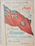 Books:Americana & American History, [Almanac]. The People's Almanac. Gazette, 1896. First edition, first printing. Light wear and staining. Foxing. Good...