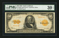 Large Size:Gold Certificates, Fr. 1200a $50 1922 Mule Gold Certificate PMG Very Fine 30 EPQ.. ...