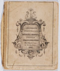 Books:Music & Sheet Music, [Music]. The Child's Pictorial Music Book. Kellogg, 1841.First edition, first printing. Spine perished. Worn with b...