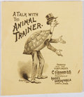 Books:Americana & American History, A Talk with the Animal Trainer. C. I. Hood, 1889. Firstedition, first printing. Minor chipping and wear to covers. Very...