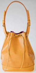 Luxury Accessories:Bags, Heritage Vintage: Louis Vuitton Yellow Epi Noe Shoulder Bag....