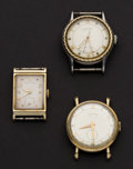 Timepieces:Wristwatch, Two Gold Hamilton's, One Gruen Automatic Wristwatches. ... (Total:3 Items)