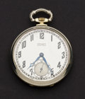 Timepieces:Pocket (post 1900), Gruen 14k Gold Two Tone Case, 21 Jewel 12 Size. ...