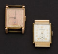 Timepieces:Wristwatch, Two Vintage 14k Gold Wristwatches. ... (Total: 2 Items)