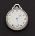 Timepieces:Pocket (post 1900), Patek Philippe Pocket Watch With Later Made Platinum & Diamond Case. ...