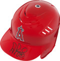 Baseball Collectibles:Hats, Albert Pujols Signed Los Angeles Angels Helmet....