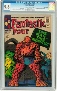 Fantastic Four #51 Rocky Mountain pedigree (Marvel, 1966) CGC NM+ 9.6 Off-white to white pages