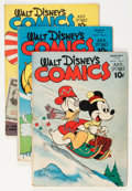 Golden Age (1938-1955):Cartoon Character, Walt Disney's Comics and Stories Group (Dell, 1944-45) Condition:Average GD/VG.... (Total: 5 Comic Books)