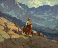 EDGAR ALWIN PAYNE (American, 1883-1947) The Lone Packer Oil on canvas 28 x 34 inches (71.1 x 86.4
