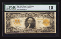 Large Size:Gold Certificates, Fr. 1187* $20 1922 Gold Certificate PMG Choice Fine 15.. ...