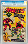 Silver Age (1956-1969):Superhero, The Avengers #2 Pacific Coast pedigree (Marvel, 1963) CGC NM/MT 9.8 White pages....