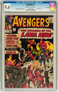 The Avengers #5 Pacific Coast pedigree (Marvel, 1964) CGC NM+ 9.6 Off-white to white pages