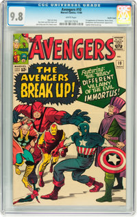 The Avengers #10 Pacific Coast pedigree (Marvel, 1964) CGC NM/MT 9.8 White pages