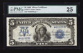 Large Size:Silver Certificates, Fr. 277* $5 1899 Silver Certificate PMG Very Fine 25.. ...