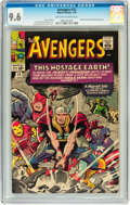 Silver Age (1956-1969):Superhero, The Avengers #12 (Marvel, 1965) CGC NM+ 9.6 Off-white to whitepages....