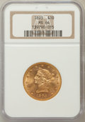 Liberty Eagles: , 1893 $10 MS64 NGC. NGC Census: (704/29). PCGS Population (220/4). Mintage: 1,840,895. Numismedia Wsl. Price for problem fre...
