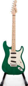 Musical Instruments:Electric Guitars, 1996 G & L S-500 Trans Green Solid Body Electric Guitar....
