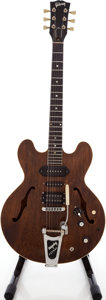 Musical Instruments:Electric Guitars, Circa Late 1950s-Early 1960s Gibson ES-330 Walnut Semi-Hollow BodyElectric Guitar Project....