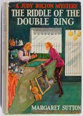 Books:Business & Economics, Margaret Sutton. A Judy Bolton Mystery: The Riddle of the DoubleRing. Grosset & Dunlap, 1937. Later impression. Sli...