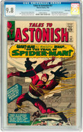 Silver Age (1956-1969):Superhero, Tales to Astonish #57 Pacific Coast pedigree (Marvel, 1964) CGCNM/MT 9.8 Off-white to white pages....