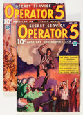 Pulps:Detective, Operator #5 Group (Popular, 1937) Condition: Average VG+....(Total: 2 Items)
