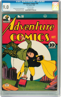Adventure Comics #55 (DC, 1940) CGC VF/NM 9.0 Off-white pages