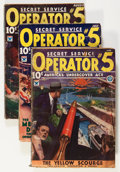 Pulps:Detective, Operator #5 June-November '34 Group (Popular, 1934) Condition:Average GD/VG.... (Total: 6 Items)