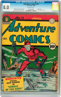 Adventure Comics #79 (DC, 1942) CGC VF 8.0 Off-white pages