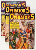 Pulps:Detective, Operator #5 Group (Popular, 1938) Condition: Average VG/FN....(Total: 4 Items)