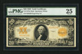 Large Size:Gold Certificates, Fr. 1187 $20 1922 Mule Gold Certificate PMG Very Fine 25.. ...