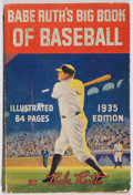 Books:Sporting Books, Babe Ruth. Babe Ruth's Big Book of Baseball. Quaker Oats,1935. Minor wear with toned pages and penciling to front c...